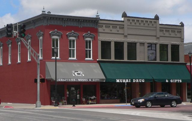 Part of the Seward County Courthouse Square Historic District - north side